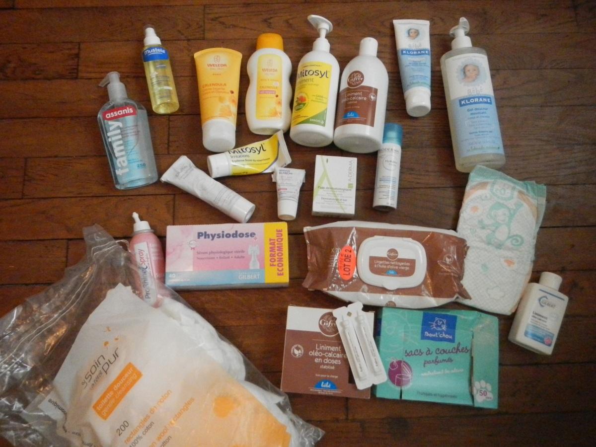 Quels produits de soin pour mon bébé? LA liste !
